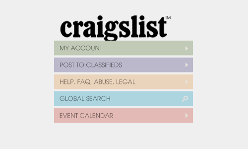 Craigslist Redesign Project